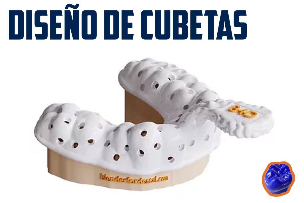Diseño de cubetas con blender for dental