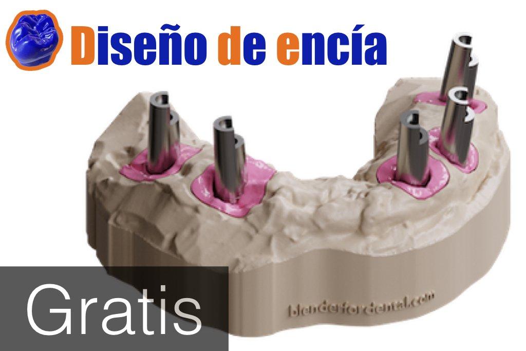 Diseño de encía con Blender for Dental