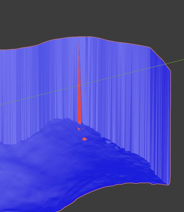 Corregir normales del modelo dental 3D.