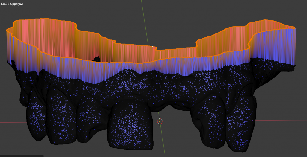 Base para modelo dental 3D.
